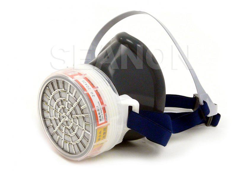 火山ガス対策マスク 吸収缶付き